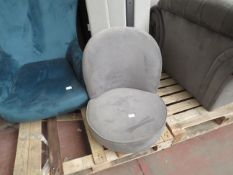 | 1X | MADE.COM GREY OFFICE CHAIR | NO MAJOR DAMAGE & MISSING LEGS | RRP £- |