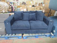 1 x Made.com Lottie 2 Seater Sofa Harbour Blue RRP œ299 SKU MAD-SOFLTT008BLU-UK TOTAL RRP œ299