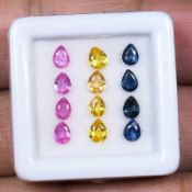 IGL&I Certified - Natural Srilanka Sapphires - VVS Clarity - (Unheated Untreated) - 12 Pieces -