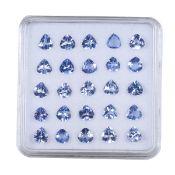 IGL&I Certified - Natural Tanzanite - 4.51 carats - 25 pieces - Pear cut - Average retail value £1,