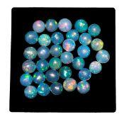 IGL&I Certified - Natural Ethiopian Opals - 4.01 Carats - Round Cabochon shape - Average retail