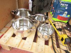 Blaumann - 3 Piece Saucer Pan Set - With Glass Lids - Unchecked.