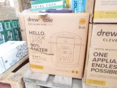 | 1x | DREW & COLE 8-IN-1 PRESSURE KING PRO 3L | UNCHECKED & BOXED | NO ONLINE RESALE | SKU - |