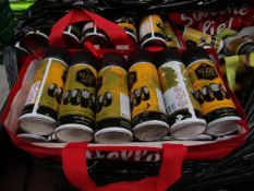 10x Cans of EW Elite Tyre Shine - Please be aware some of these cans may be half full, missing the