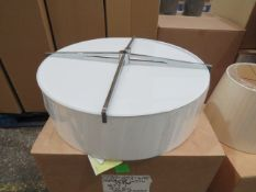 Chelsom 020/603/WE ceiling light with diffuser and shade, looks unused.