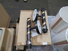 2x Chelsom Black and Gold Wall Hung Lamp. Model RI/56/WI/BB/EBR