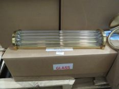 Chelsom Long Glass Wall Hung Lamp