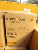   1x   DREW AND COLE SOUP CHEF   PROFESSIONALLY REFURBISHED AND RE BOXED  NO ONLINE RESALE   RRP £