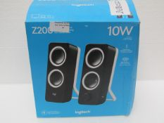 Logitech Z200 Wired Speakers - Untested & Boxed - One of the stands has broken off the one of the