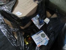 Pallet of Xhoses and accessories, all un manifested and unchecked returns