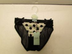 2x Pairs of Odille G Strings Black - Size S - New & Packaged