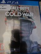 Call of Duty Black Ops cold war game for PS4, unchecked in packaging