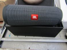 JBL Flip essential wireless speaker, unchecked as no power but it could just need charging, RRP £