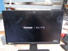 """View sonic Elitre XG270QG 27"""" 1ms IPS Nano Colour Gaming Monitor, powers on and displays a picture"""