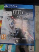 Star Wars Jedi fallemn Order for PS4 unchecked in packaging