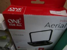 One for all indoor HD aerial, unchecked and boxed