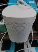 Sonos one gen2 speaker, powers on but havent connected to a network due to the length of time and