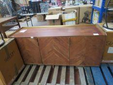 1 x SWOON Merion Sideboard Acacia and Brass RRP £699 SKU SWO-AP-merionsideboardthreedraweradb