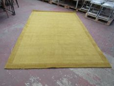 | 1X | MADE.COM JAGO BORDER RUG - SIZE 200 X 300CM, ANTIQUE GOLD | SEE IMAGE FOR CONDITION | RRP