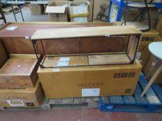 1 x SWOON Lubeck Floating Shelf in Mango and Black Steel RRP £ 129 SKU SWO-AP-