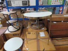 1 x Swoon Aravali Brass & Green Marble Deco Style Side Table RRP £199 SKU SWO-AP-