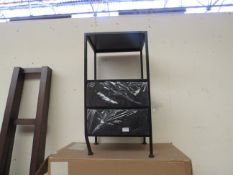| 1X | COX & COX INDUSTRIAL TWO DRAWER BEDSIDE TABLE | ITEM LOOKS IN DECENT CONDITION HOWEVER ONE OF