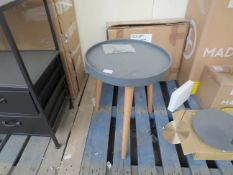 | 1X | COX & COX MILA SIDE TABLE, GREY | SMALL | ITEM LOOKS IN GOOD CONDITION & BOXED | RRP œ150 |