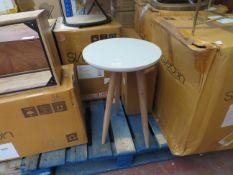 1 x SWOON Jupiter Side Table in Grey RRP £69 SKU SWO-AP-jupitersidtabroundlightgre TOTAL RRP £69