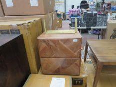 1 x SWOON Norre Bedside Table in dark brown RRP £199 SKU SWO-AP-norrebrobedsidetdrwacacia-BER