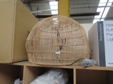 | 1X | COX AND COX LARGE PENDANT LAMPSHADE | HAS A FEW BENT PIECES THAT APPEAR TO BE REPAIRABLE |