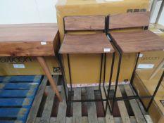 1 x SWOON Bar Stools Set of Two Acacia and Matt Black RRP £299 SKU SWO-AP-Dexterbarstoolpairsbpabl