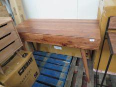 1 x SWOON Watts Desk in Acacia in Natural Rosewood finish RRP £329 SKU SWO-AP-wattsdeskhardwood