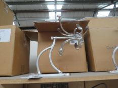 | 1X | COX AND COX ANTIQUE SILVER REVOLVING COAT RACK | NO MAJOR DAMAGE AND BOXED | RRP £150 |