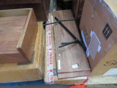 1 x SWOON Jackman Floating Shelf Acacia and Black Steel RRP £99 SKU SWO-AP-