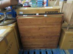 1 x SWOON Mosby Shoe Rack in Natural Mango Wood RRP £329 SKU SWO-AP-mosbyshoerackmango-BER TOTAL RRP