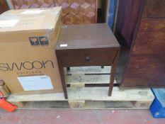 1 x SWOON Elsa Bedside Table in Dark Mango Wood RRP £149 SKU SWO-AP-elsabedsidedarkmango TOTAL