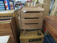 | 1X | SWOON 3 DRAWER BEDSIDE TABLE | NO MAJOR DAMAGE AND BOXED | PALLET REF SWOON-BULK-2608A |