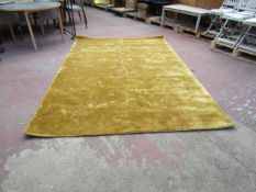 | 1X | MADE.COM MERKOYA LUXURY VISCOSE RUG, EXTRA LARGE 200 X 300CM, ANTIQUE GOLD | SEE IMAGE FOR