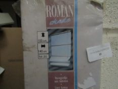 Roman Shade with Baleens, 140cm wide x 180cm drop - Unchecked & Boxed.