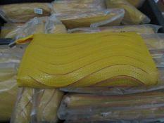 5x Yellow Clutch Purse with Handbag Strap - New & Sealed