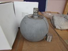 5x Grey Concrete Citronella Oil Garden Table Lamp Light - Unchecked & Boxed - RRP £24.99 For Each