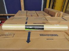 Box Of 6 Wallpaper Rolls - Colour/Design/ Roll Length May Differ - All Appear to Look Unused,