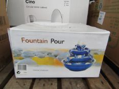 Fountain Pour - Ceramic 3-Tier Water Fountain - Unused & Boxed.