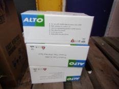 5x Alto - IP44 Wall Spot Lamp - Unused & Boxed.