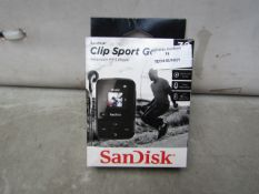 Sandisk Clip Sport Go Wearable MP3 Player - Untested & Boxed - RRP £41