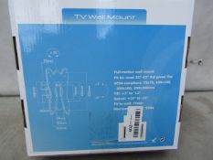 """Ibra 23-42"""" TV Wall Mount - Unchecked & Boxed"""