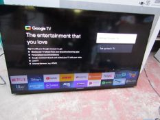 Sony X89J 432 4K smart TV, tested working for picture via HDMi Input, Comes with Stand and remote