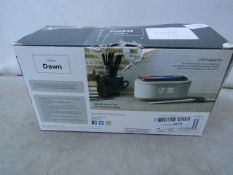 I-Box Dawn Bedside Alarm Clock & Wireless Charger - Tested Working & Boxed - RRP £45
