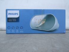 Phillips Clock Radio - Tested Working & Boxed - RRP £25
