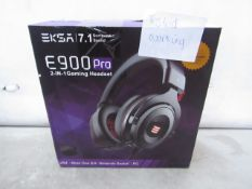 Eksa E900 Pro 2 in 1 Gaming Headset with 7.1 Surround Sound - Tested Working & Boxed - RRP £35